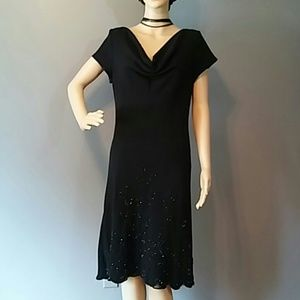 S L Fashion Mother of the bride Dress Beads sz 12